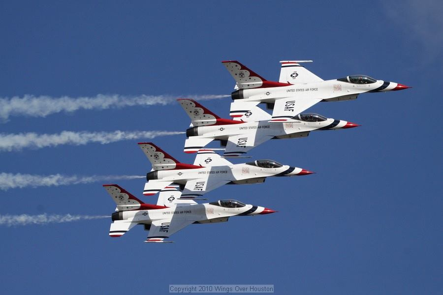 Wings Over Houston Airshow jet formation ~ flying high!