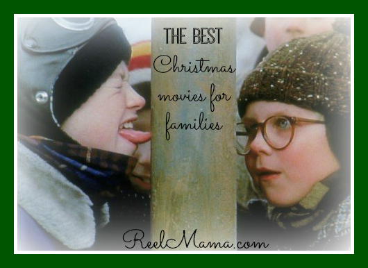 """Best Christmas movies for families from ReelMama.com ~ Happy holidays! This is a scene from """"The Christmas Story"""" as Flick takes on Schwartz's triple dog dare in front of Ralphie"""