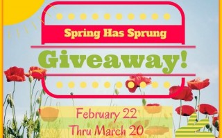 Enter our Spring Has Sprung Giveaway! (Ends 3/20/16)