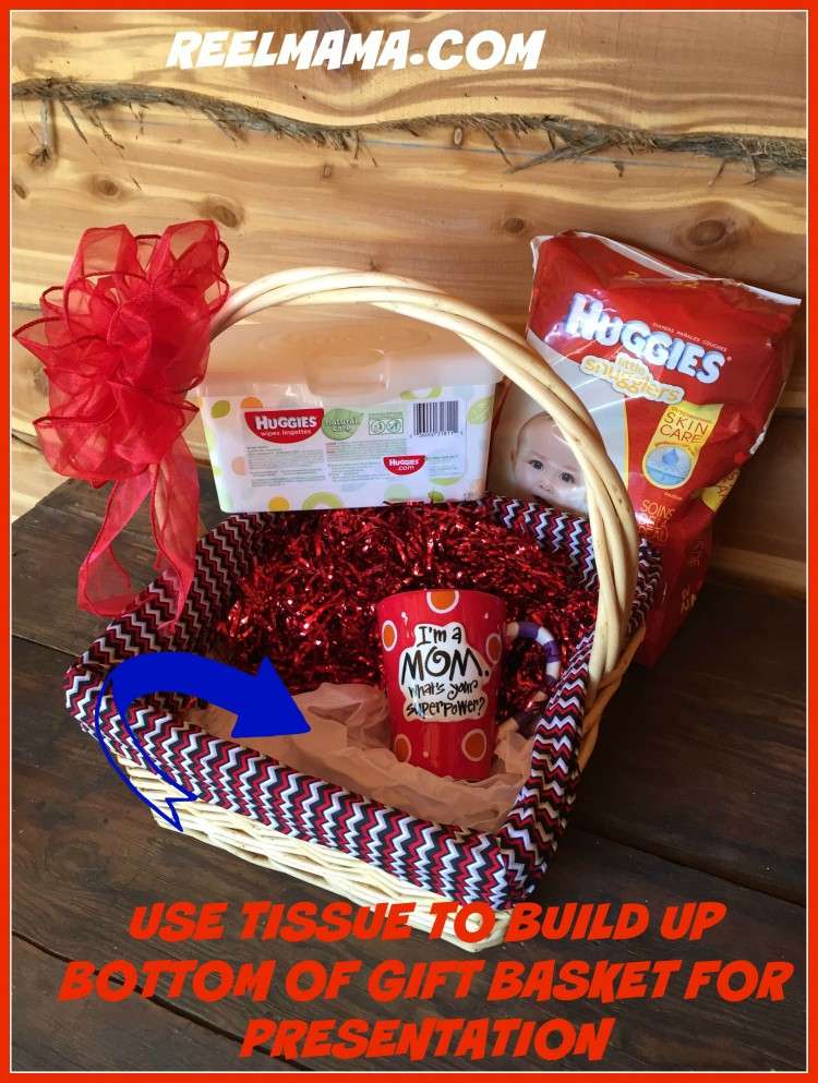 Add tissue to supermom gift basket for new mom
