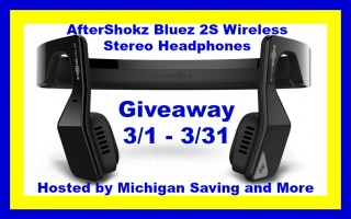 Win AfterShokz Bluez 2S Wireless Stereo Headphones (Ends 3/31/16)!