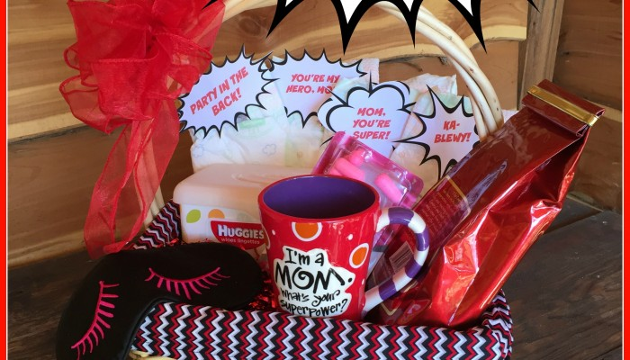 Supermom gift basket for a new mom