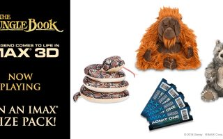 Win a JUNGLE BOOK prize pack: 4 IMAX tickets and 3 character stuffed animals! (ARV: $144) (Ends 5/2/16)
