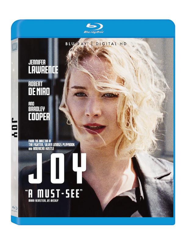 JOY on Blu-Ray starring Jennifer Lawrence