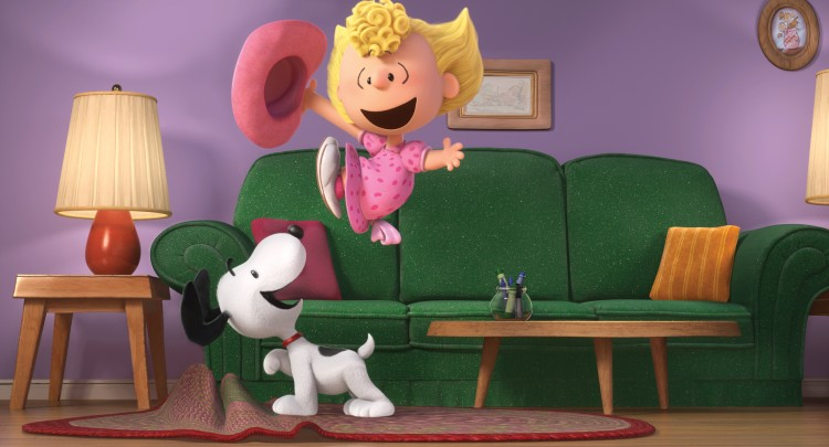 The Peanuts Movie still includes Sally with Snoopy