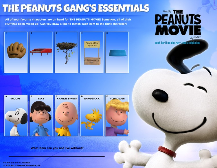 Peanuts Gang Essentials Activity