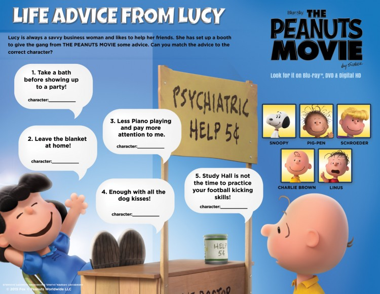 Advice from Lucy activity