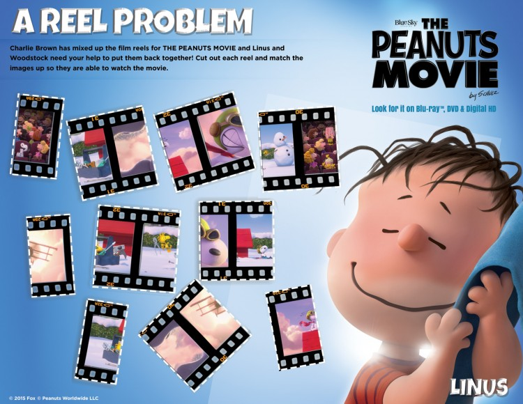 Peanuts movie reel puzzle