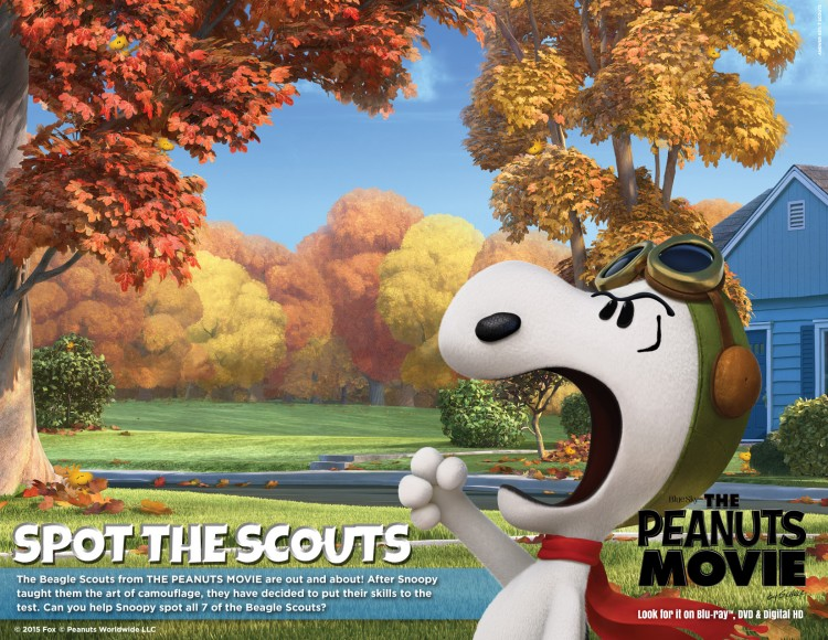 Help Snoopy spot Scouts game