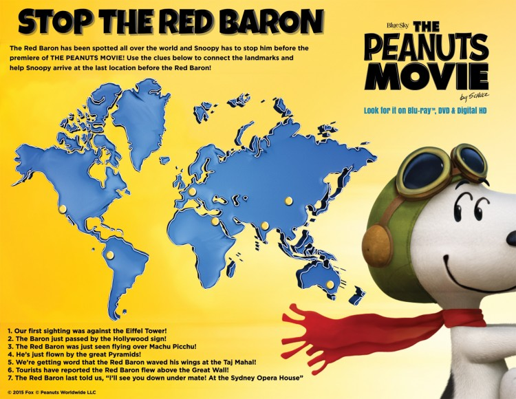 Stop the Red Baron activity map