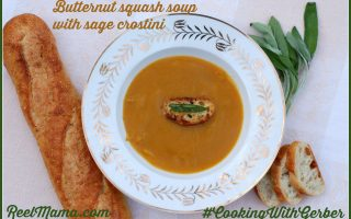 Butternut squash soup with sage crostini #CookingWithGerber