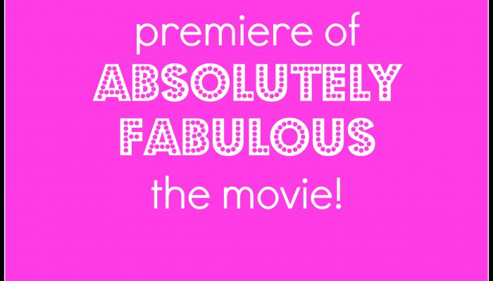 Win a chance to attend the premiere of Absolutely Fabulous in NYC + Absolutely Fabulous wine spritzer recipe!