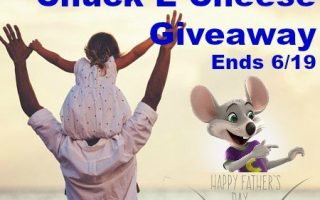 Chuck E Cheese giveaway! (Ends 6/19/16)