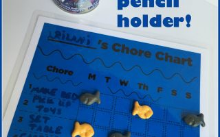 Chore chart inspired by Goldfish crackers and Campbell's Soup featuring Disney Pixar's Finding Dory