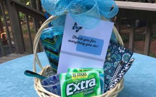 Thank you gift basket tutorial