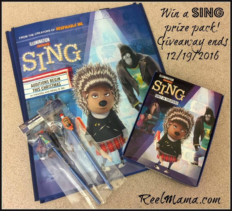 SING prize pack