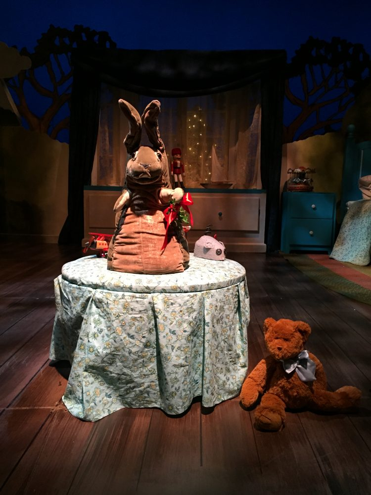 The Velveteen Rabbit puppet by Marjorie Tudor of the Tasha Tudor family at the Boston Children's theater