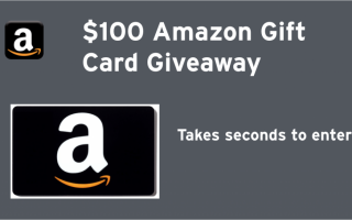 Win a $100 Amazon gift certificate! Ends 2/21/2017