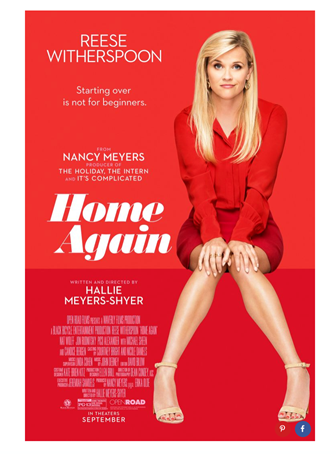 Home Again movie poster with Reese Witherspoon