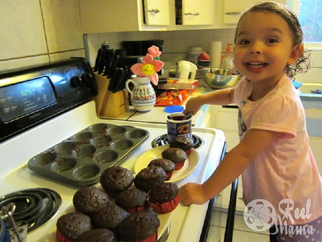 Making Halloween Cupcakes Cupcake Batter Making