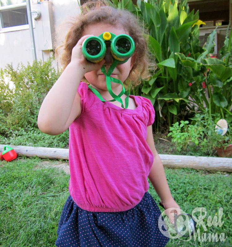 in the backyard with backyard safari outfitters field binoculars