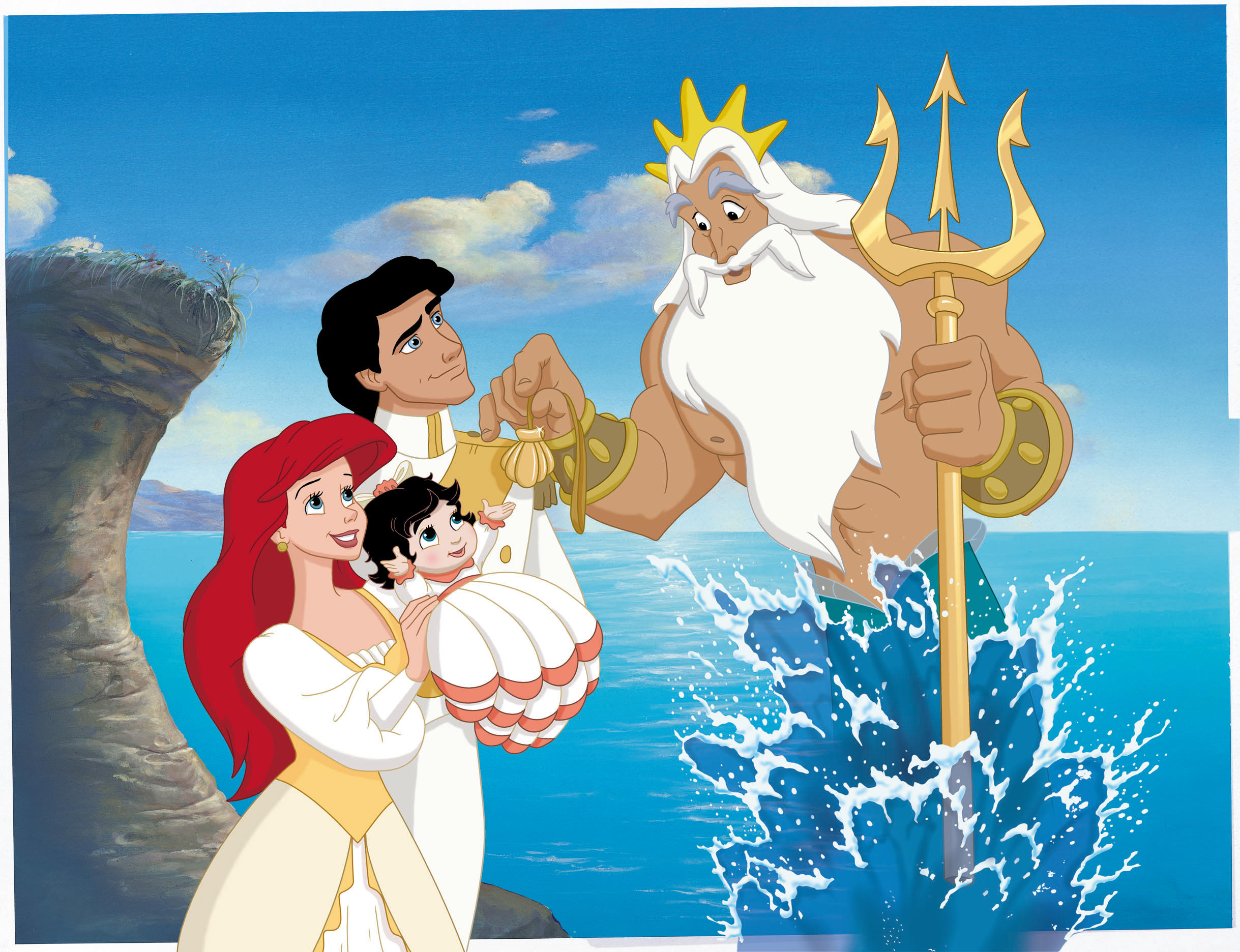 Ariel King Triton Eric And Melody In Little Mermaid Ii