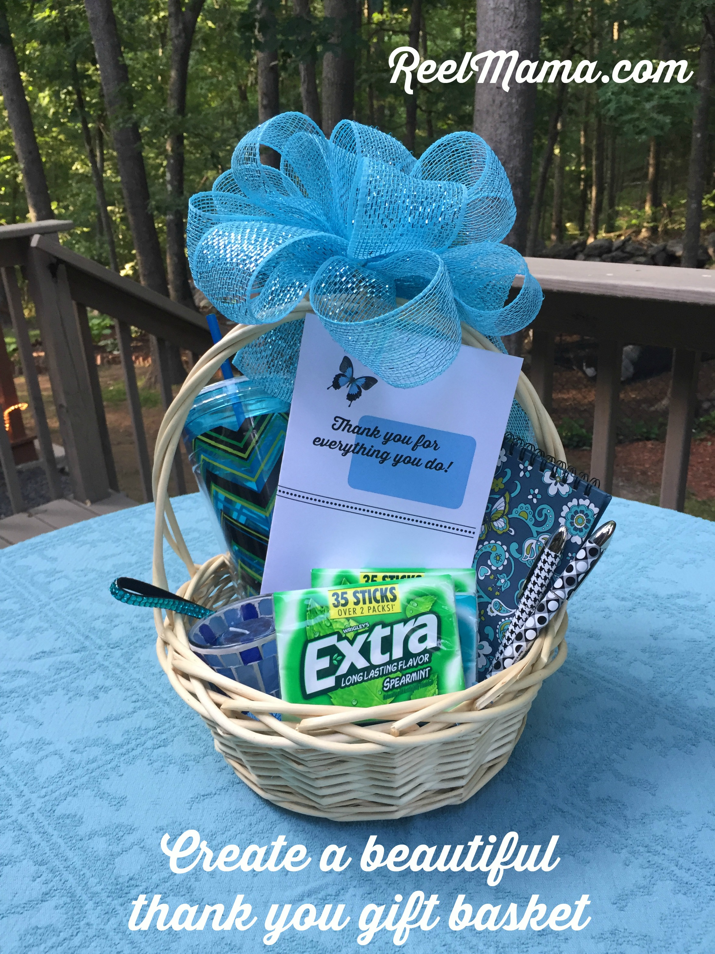 thank you gift basket tutorial for a friend or co-worker