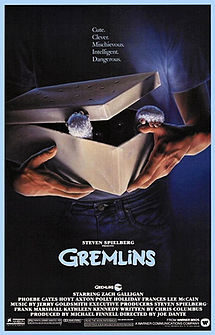 Hoyt Axton, Mogwai, Mogwais, Gremlin, Gremlins, Gizmo, Christmas Camp, Campy Christmas Films, Zach Galligan, Animatronics, Francis Lee McCain, Pods, Stephen Spielberg, Corey Feldman, 1980s Films, 1980s Classics, Horror Films for Kids, Christmas Horror Films, Black Comedy, Black Comedies