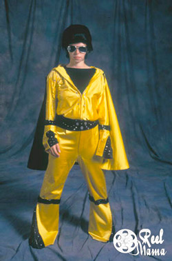 Reel Mama Lauren Ivy Chiong dresses up like Elvis
