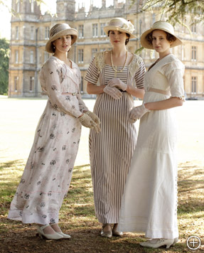 The Style of Downton Abbey, Downton Abbey Style, Downton Abby, Masterpiece Classics, Masterpiece Theater, PBS, Michelle Dockery as Lady Mary, Laura Carmichael as Lady Edith, Jessica Brown Findlay as Lady Sybil, Downton Abbey cast members, Downton Abbey Dresses, Downton Abbey Fashions