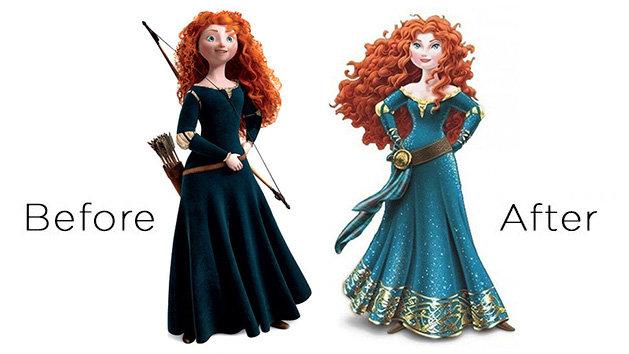 Merida Disney Princess makeover