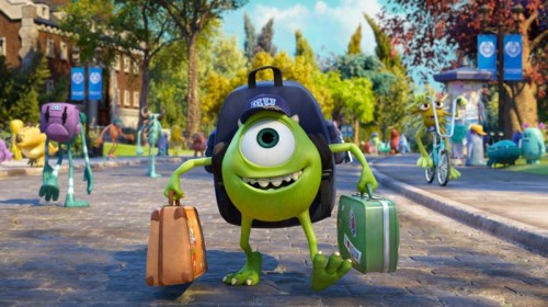 MONSTERS UNIVERSITY, mike wazowski monsters university, characters in monsters university, mike the cyclops in monsters university, mike monsters university, mike at college in monsters university, funny green monster in monsters university, mike monsters inc