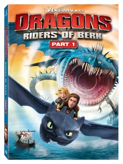 Dragons Riders of Berk DVD cover art