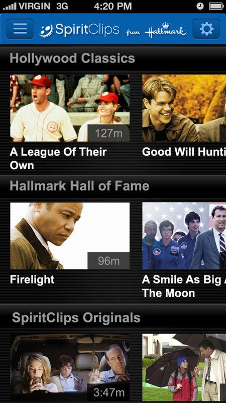 Hallmark SpiritClips search yields plenty of heartwarming films to enjoy.