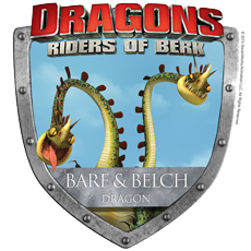 Barf and Belch Dragons from Dragons Riders of Berk. These messy pet  dragons might be hard to train!