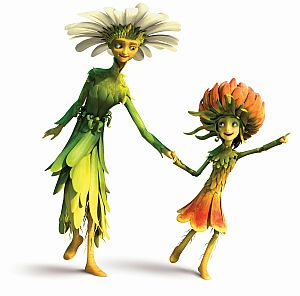 Marigold Girl, voiced by Emma Kenney, and Thistle Lady in Dreamworks children's film EPIC