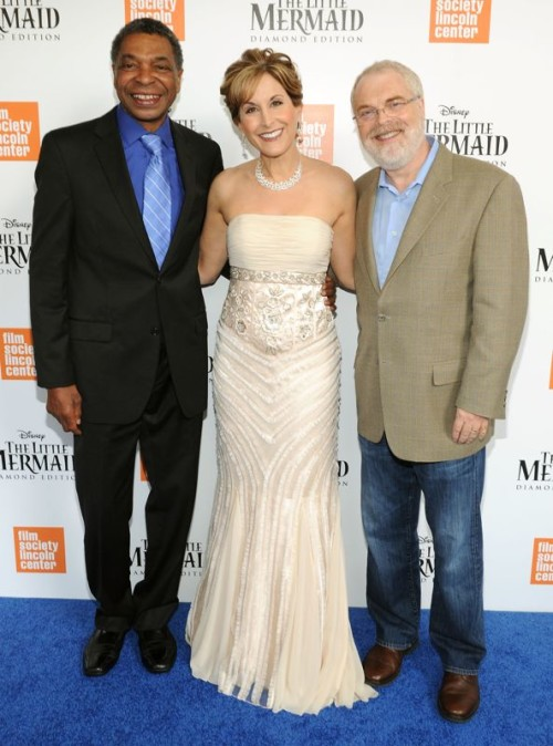 Samuel Wright, Jodi Benson and Ron Clements attend Disney's The Little Mermaid special screening at Walter Reade Theater on September 21, 2013 in New York City. (Photo by Craig Barritt/Getty Images for Walt Disney Studios Motion Pictures)