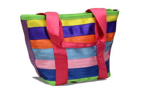 Maggie Bags Campus Tote in Confetti, a stylish bag made out of recycled seatbelts for green fashion