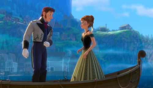 Prince Hans and Anna in Disney Frozen