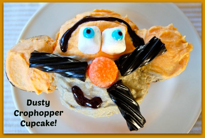 Disney Planes Dusty Crophopper Cupcake
