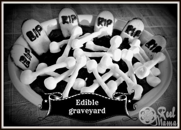 Chocolate edible graveyard