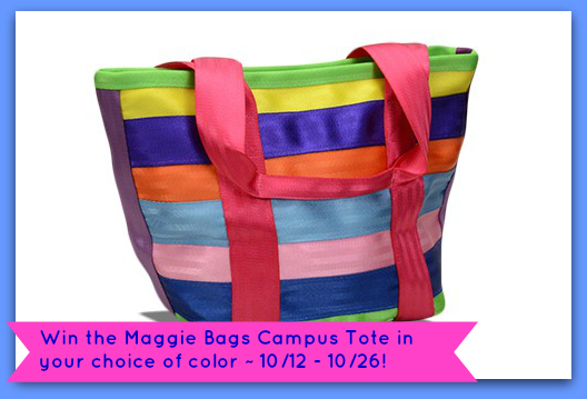 Maggie Bags Campus Tote Giveaway Button