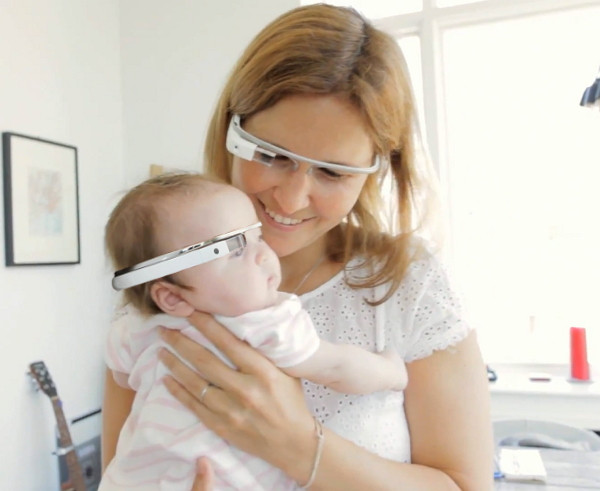 The future of family together time? Mom and baby with Google Glass ~ Photo: MIT Technology Review: http://www.technologyreview.com/