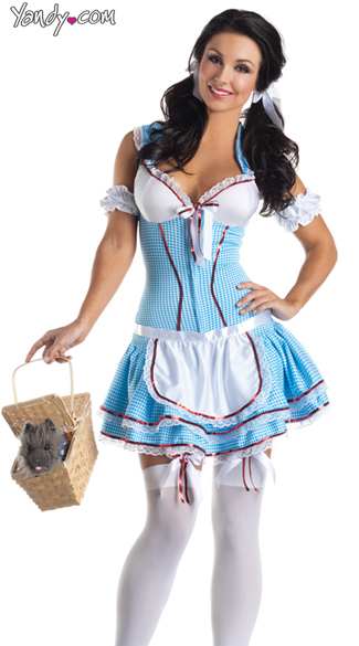 Sexy Dorothy Wizard of Oz costume. Photo: Yandy.com