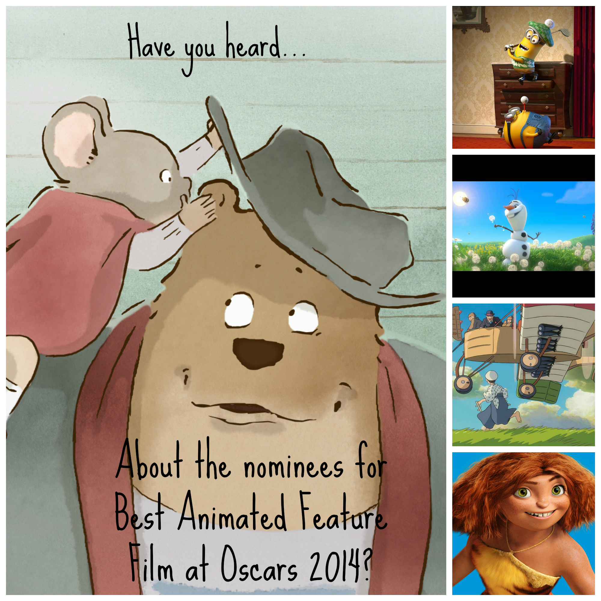 Best Animated Feature Films Oscars 2014 collage