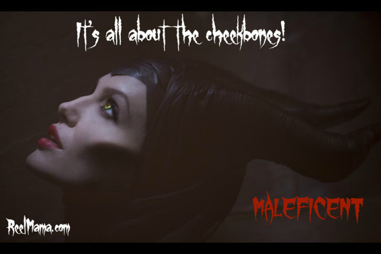 Angelina Jolie's fabulous cheekbones in Maleficent #Maleficent from Disney