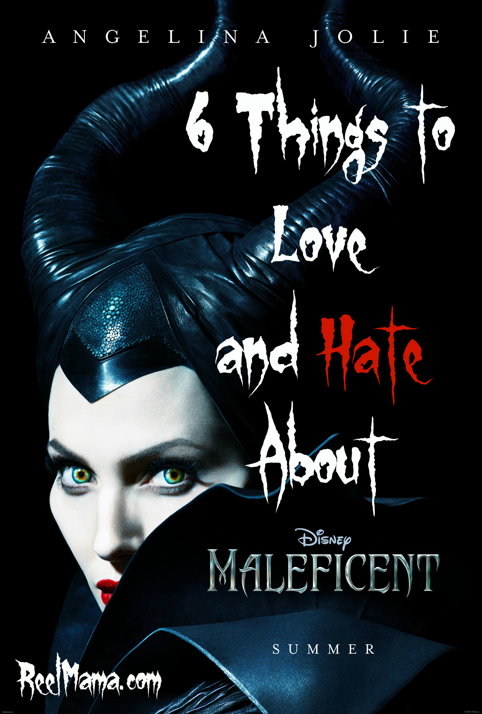 6 Things to Love and Hate About Maleficent starring Angelina Jolie #Maleficent from Disney