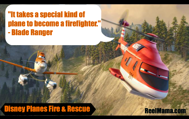 Blade Ranger quote with Dusty Crophopper from Disney Planes Fire and Rescue #FireandRescue
