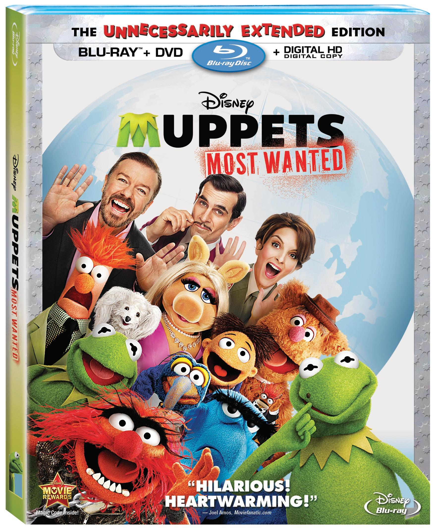 Muppets Most Wanted Blu Ray Combo Pack #MuppetsMostWanted
