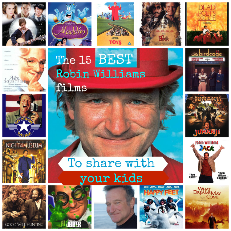 The 15 best Robin Williams movies to share with your kids to share with your kids. In Memoriam #RobinWilliams